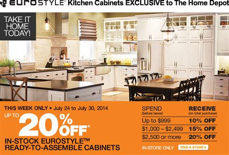 home depot 20 off cabinets the home depot canada sale save up to 20 off eurostyle