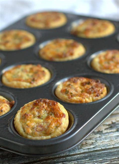 mini ham and edam cheese quiches