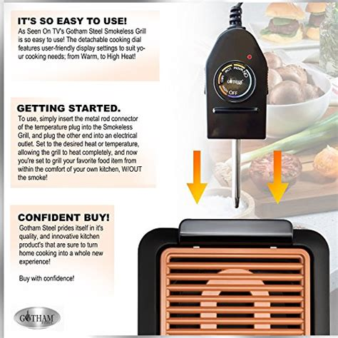 grille tv free gotham steel smokeless electric grill portable and