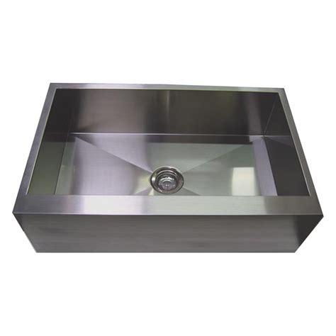 stainless apron front sink 30 stainless steel zero radius kitchen sink flat apron