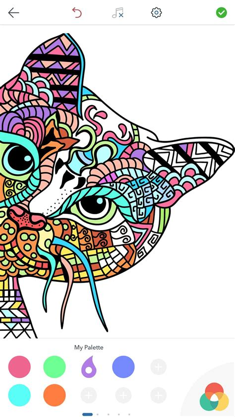 cat coloring pages  adults   android ios