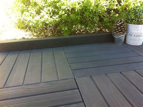 dalle pour terrasse dalle terrasse aspect bois noir