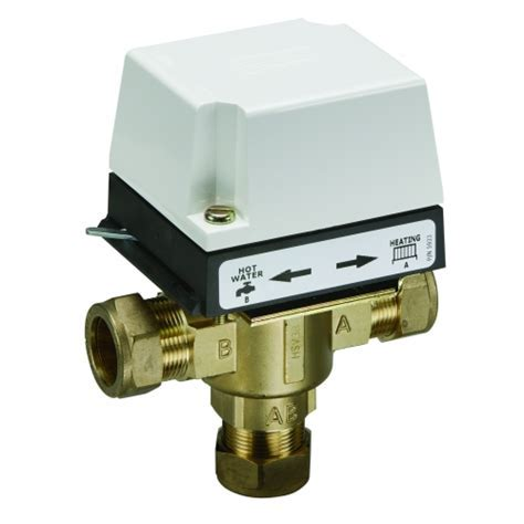 3 port 22mm Mid Position Valve HS3. Danfoss. Motorized Valve.