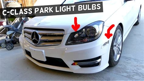 mercedes  front park light bulb replacement