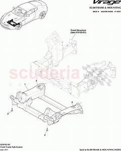 Aston Martin Virage Front Frame Subsystem Parts
