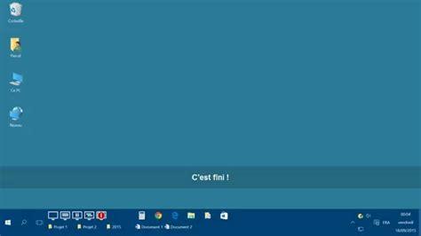 afficher les icônes du bureau avec windows 10