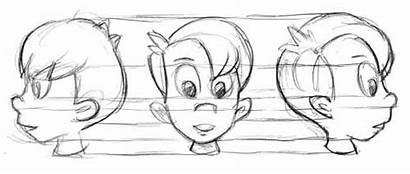 Face Cartooning Cartoon Head Drawing Shapes Simple