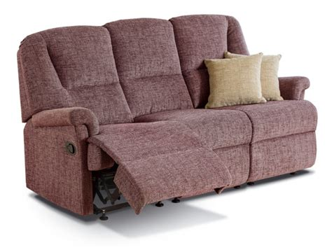 Three Seater Settees by Milburn Small Fabric Reclining 3 Seater Settee Sherborne