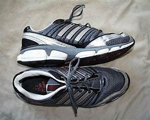 Vintage Adidas Running Shoes Silver Gray 12