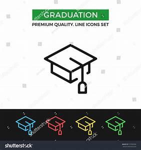 Vector Graduation Icon Education Academic Degree Stock ...