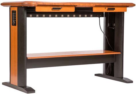 desk with cable management standing computer desk caretta workspace