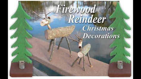miniature firewood reindeer christmas