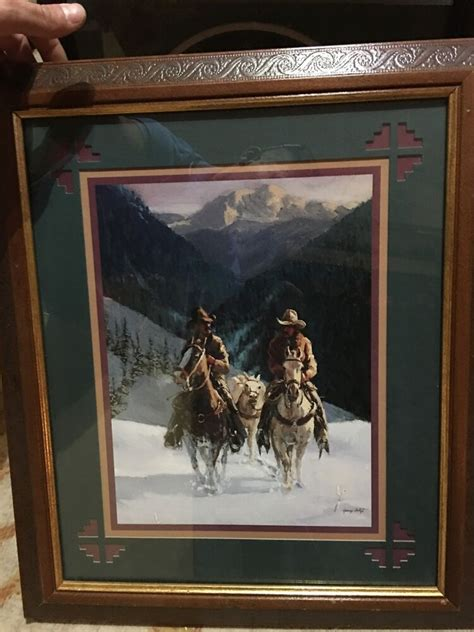 Home Interior Ebay by Home Interior Gifts Cowboys In Snow Picture Gary