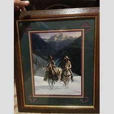 Home Interior & Gifts Cowboys Riding In Snow Picture Gary
