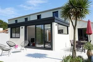 veranda a toit plat pour une maison de bord de mer With maison de la fenetre 0 maison contemporaine dompierre sur mer