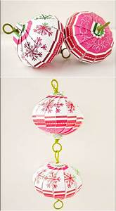 How To Make Hanging Flower Balls Out Of Tissue Paper 20 Hopelessly Adorable Diy Christmas Ornaments Made From