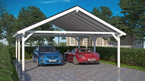 two car carport two car carports nordic wooden products