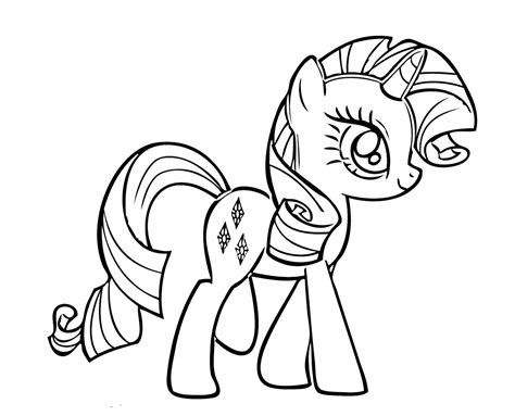 Ausmalbilder Pony Kostenlos