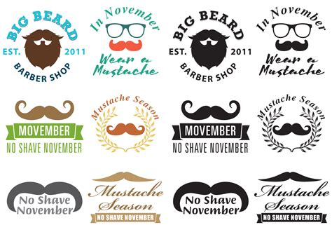 Mustache Movember Logo Vectors - Download Free Vector Art ...