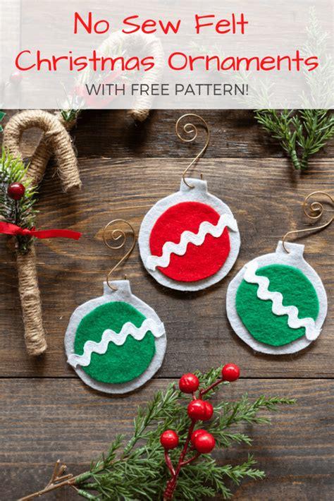 sew easy felt christmas ornaments  artisan life
