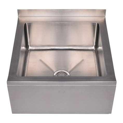 stainless wall mount sink whitehaus collection noah 39 s collection 20 in x 24 in x