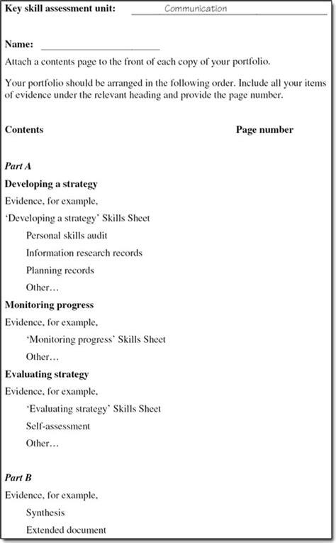 key skills assessment information literacy