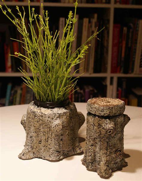 faux bois tree stump container video martha stewart