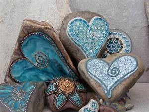 Mosaik Basteln Ideen : mosaik basteln anleitung garten gestalten liebe blau diy ~ Lizthompson.info Haus und Dekorationen