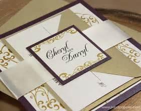 gold wedding invitations purple gold wedding invitations bitsy