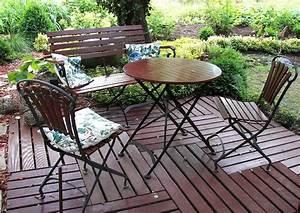 Gartenmöbel Aus Metall : gartenst hle und runder tisch gartentisch aus holz und metall ~ One.caynefoto.club Haus und Dekorationen