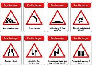 Panneau De Signalisation Code De La Route : jeu des 5 familles de panneaux de signalisation routi re famille danger ~ Medecine-chirurgie-esthetiques.com Avis de Voitures