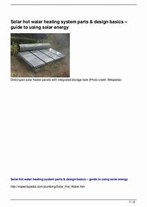 Solar Hot Water Heating System Parts  U0026 Design Basics  U2013 Guid U2026