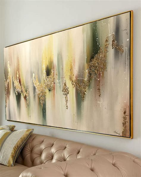 large abstract oil painting wall art gold painting wall