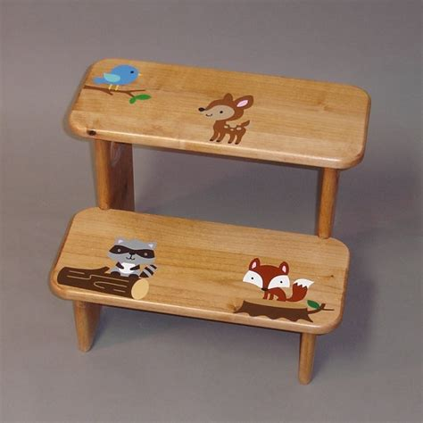 toddler step stool wood woodworking projects plans