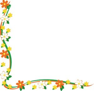 flower clipart image yellow  white daisy border