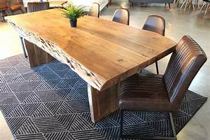 Table En Acacia : acacia live edge table with wooden plank legs natural color wazo furniture ~ Teatrodelosmanantiales.com Idées de Décoration