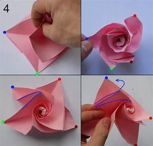 Papier Selber Machen : rose aus papier falten blumen basteln anleitung ~ Lizthompson.info Haus und Dekorationen