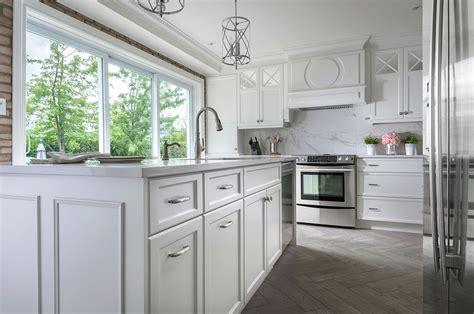 cuisine chic armoire de cuisine blanche chic et style laval montréal