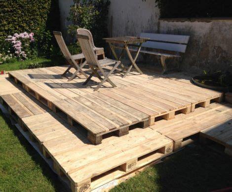 überdachung terrasse selber bauen holzterrasse aus paletten selber bauen so geht es re