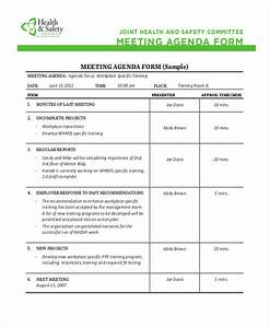 Safety agenda templates 10 free sample example format for Health and safety committee meeting agenda template