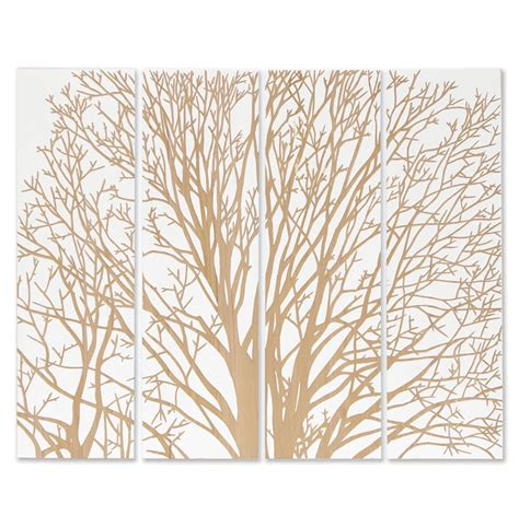 arbor spring tree white carved wood wall mural art kathy