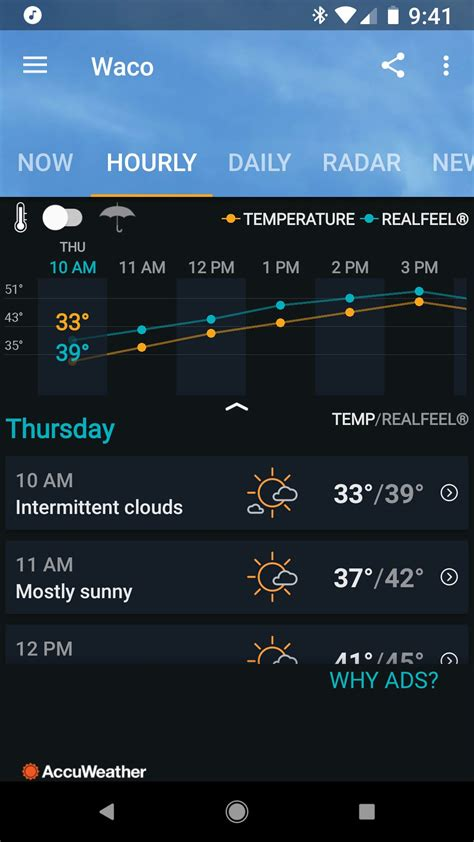 weather android apps accuweather hourly androidcentral