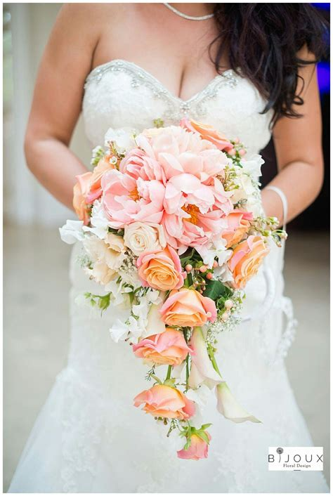 Dreamy Cascading Bridal Bouquet Which Includes Pastel