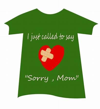 Clipart Mom Sorry Font Tshirt Transparent Svg