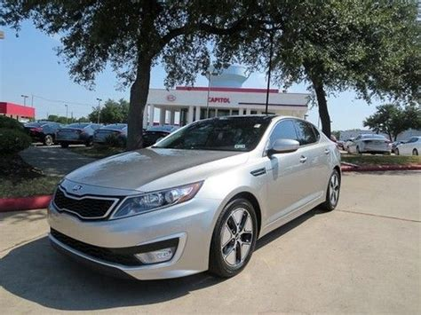 purchase   kia optima hybrid  premium pkg  miles nav sunroof leather infinity