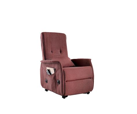Poltrona Massaggiante Lucrezia : Poltrona Relax Alzapersona Lucrezia In Lino Rosso