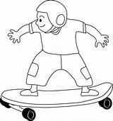 Skateboarding Clip Skateboard Clipart Coloring Kid Skate Pages Drawing Cliparts Drawings Skateboards Disney Person Boy Line Results Outlines Clipartix Sweetclipart sketch template