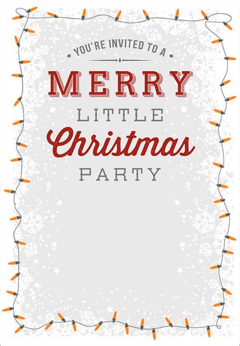 printable christmas invitation templates