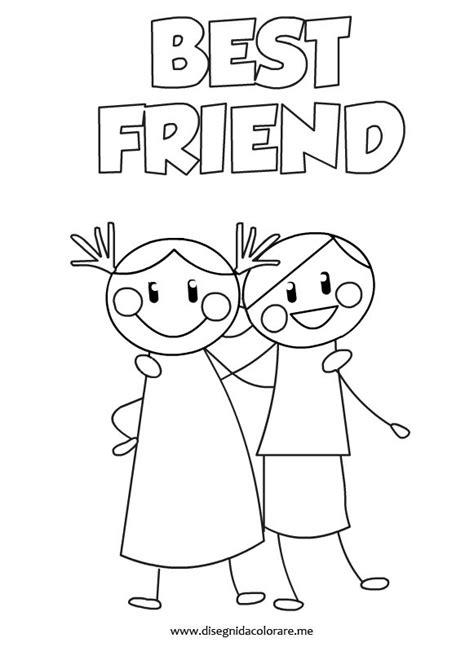 bff disegni amiche facili disegni da colorare bff