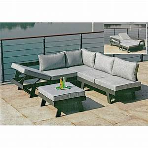 Lounge Set Garten : lounge gruppe donna 3 tlg grau kaufen bei obi ~ A.2002-acura-tl-radio.info Haus und Dekorationen